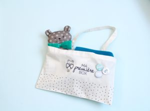 Petit Tote bag Ma Première Box idéal pour ranger les affaires de bébé