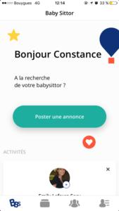 Mom Mag : visuel création compte Baby SIttor