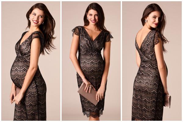 Tenue de fête femme enceinte : robe en dentelle Tiffany Rose