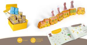 Ma Jolie Epicerie x Mom Mag : kit de préparation gâteau train
