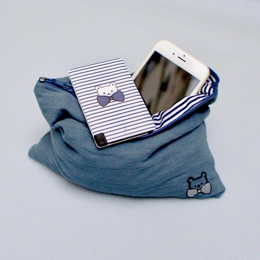 Mom Mag : nouveauté Ma Première Box pochette bleue