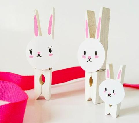 Mom Mag : DIY pinces à linge lapin