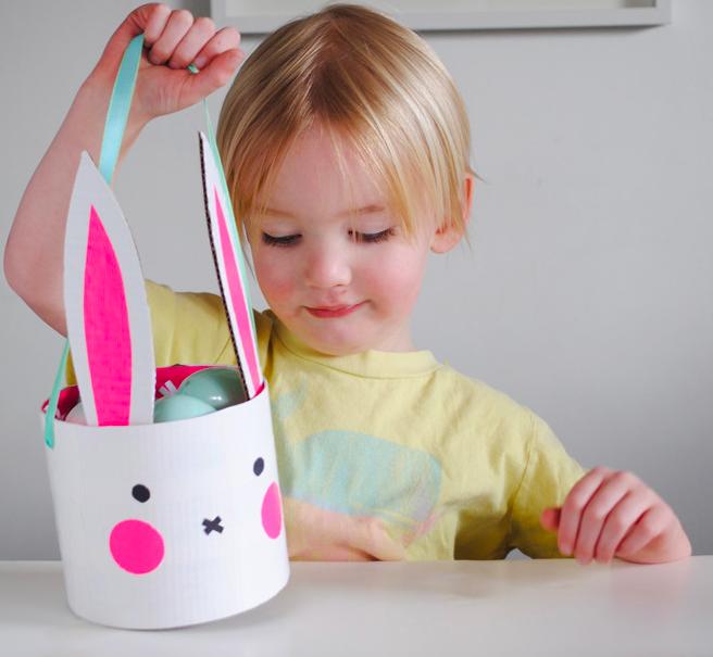 Mom Mag : un panier de Pâques lapin DIY
