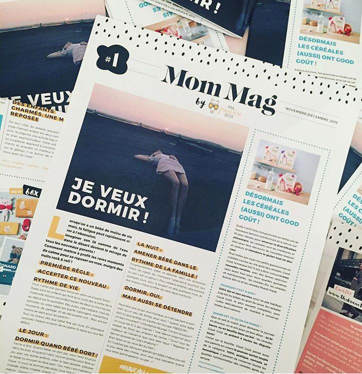 Retrouvez un Mom Mag dans la box Maman + Moi - Mom Mag